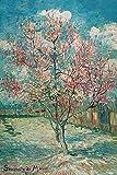 PROW Obras Famosas de Van Gogh Flor de durazno floreciente 1000 Piezas Rompecabezas para Adultos Decoración para el hogar Obra de Arte Marco de Fotos Navidad Amantes literarios Regalo