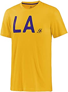 0c5495622d2 adidas NBA Basketball L.A Lakers T-Shirt Male Yellow