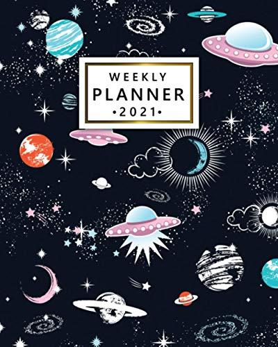 2021 Weekly Planner: Cool Cosmic Galaxy 12 Month Agenda, Calendar, Diary |...