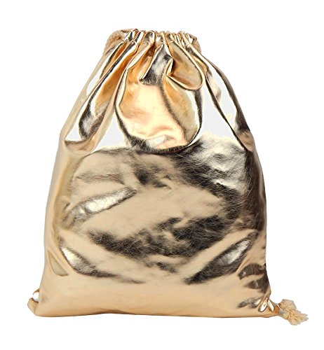 Ella Jonte Gymbag Gold metallic Gym Bag Turnbeutel Hip Trend Party Rucksack
