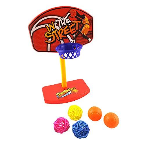 prettygood7 Huisdier Vogels Kauwen Parakeet Bell Balls Papegaai Speelgoed Birdie Basketbal Hoop Prop