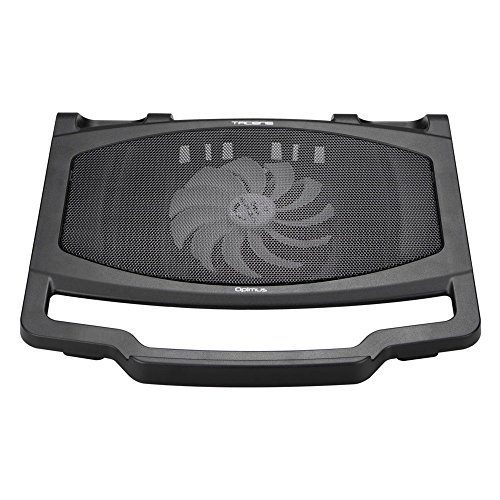 Tacens Opimus - Base de refrigeración para portátil (15,4 pulgadas, ventilador 140 milímetros, ergonómico) color negro