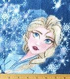 Vorgeschnittene 1,4 m – Frozen Elsa auf blauem Fleece