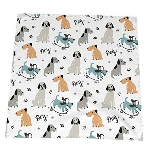 Ye Hua Trendy Scandinavian Dogs Tischset 19,6x19,6 Zoll Buntes 4er-Set