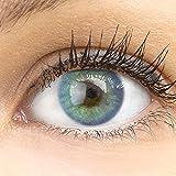 GLAMLENS lentillas de color azul + contenedor. 1 par (2 piezas) - 90 Días - Sin Graduaci�...