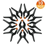 FUDESY 10-Piece Heavy Duty 4.5 inch Muslin Spring Clamps,Plastic Hard Grip Clips for Photography Studio