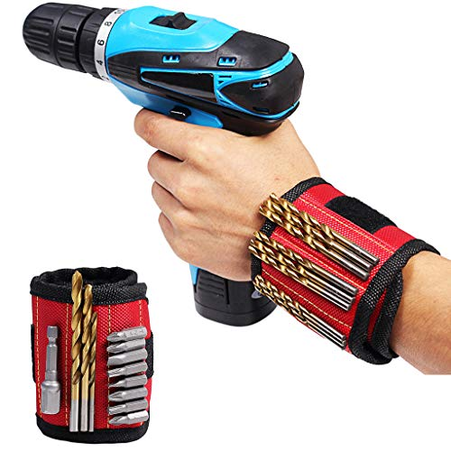 Bescita Magnetische Armbänder mit 15 leistungsstarken Magneten für Holding Werkzeuge,Schrauben,Nägel,Dübel,Bohrernn und kleinen Werkzeugen,Geschenk für DIY Heimwerker,Werkzeug Geschenk für Männer