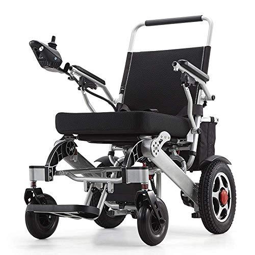 FEEE-ZC Silla de Ruedas Silla Ligera portátil Inteligente Scooter de Movilidad Personal Silla de Ruedas - Pesa Solo 58 Libras con batería - Soporta 400 Libras