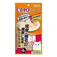 チャオ (CIAO) ちゅ~る 皮膚・被毛の健康に配慮 とりささみ 14g×4本 猫用おやつ - -