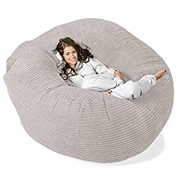 IMPORTANT INFO: Footstool & Cuddle Cushion NOT included! - LOUNGE PUG bean bag chairs come with a 2 YEAR quality guarantee against craftsmanship Amazing quality - Features child safety zips - Double stitched - Fabric is hard wearing and durable Inclu...