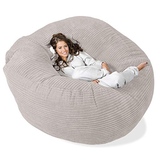 Lounge Pug®, 'Mega-Mammoth' Sofa Sitzsack XXL, Schlafsofa, Cord Crème