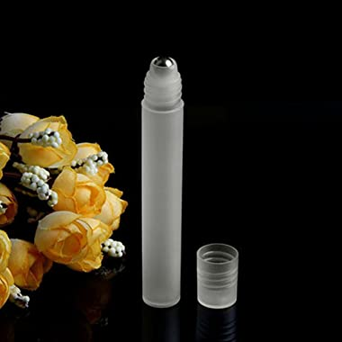 qsbai 5ml/10ml Empty Roll On Stainless Steel Roller Ball Liquids Oil Perfume Bottle - 5ml