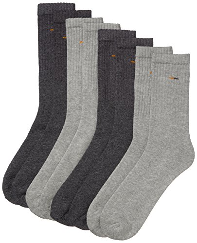 Camano Herren 5941 Sport Socks 8 Paar Sportsocken, Grau (Grey 10), (Herstellergröße: 39/42) (8er Pack)