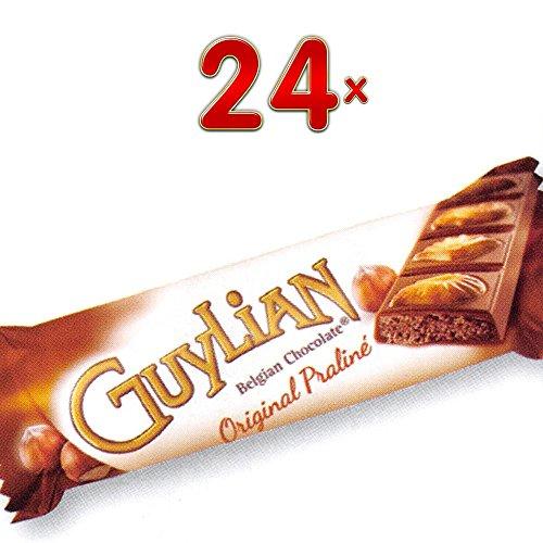 GuyLian belgian Chocolate Original Praliné 24 x 35g Riegel (belgische Schokolade mit Nuss-Nougat-Füllung)