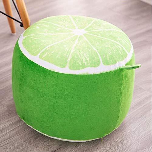 Jinda Sgabello Familiare Sgabello Sgabello Cotone Set Peluche Sgabello di Frutta Limone