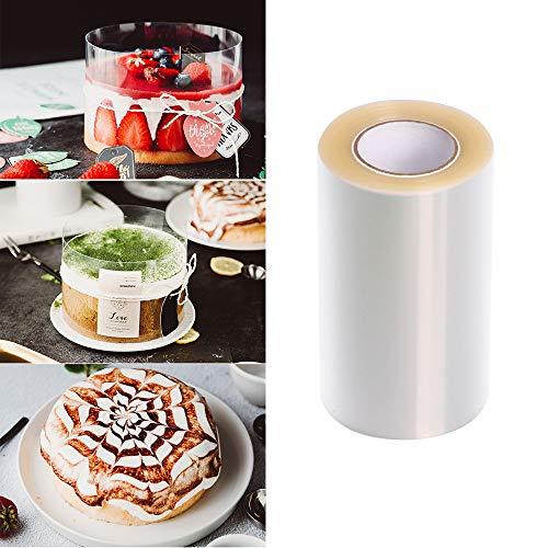 Lezed Obroże do ciast przezroczysta rolka octanowa poliestrowe plastikowe paski przezroczyste arkusze octanowe do czekolady musu ciasta pieczenia lub dekorowania (15 cm * 10 m)