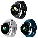 Sycreek Compatible para Samsung Galaxy Active Correa 20mm Pulsera Silicona Suave de Correa de Reloj Ajustable de Repuesto para Samsung Galaxy Watch 42mm/Gear Sport/Active 2 40mm/Active 2 44mm