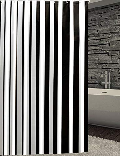 QXHELI douchegordijn, waterdicht, voor de badkamer, om op te hangen (een groot aantal maten optioneel) (sneldrogend, afmetingen: 200 x 180 cm)