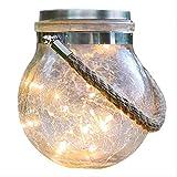 Led -Nachtlicht Im Freien Solar-Gartenlampen Hängen Glas Risse Haus Gärten Terrasse Dekoratives Nachtlicht140 * 115Mm