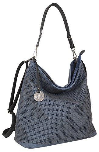 J JONES JENNIFER JONES Damen Tasche Schultertasche Große Umhängetasche in 5 Farben Handtasche für Frauen Sommer Design Crossbody (3126) (Blau)