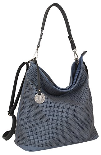 Jennifer Jones, borsa a tracolla grande, con design crossbody, ideale per l'estate, in 5 colori diversi, da donna (codice articolo 3126), Blu (Blu) - 3126