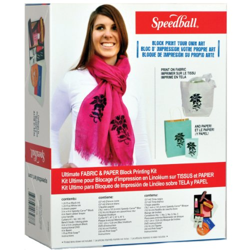 Speedball Ultimate Fabric and Paper Block Printing Kit (003478)
