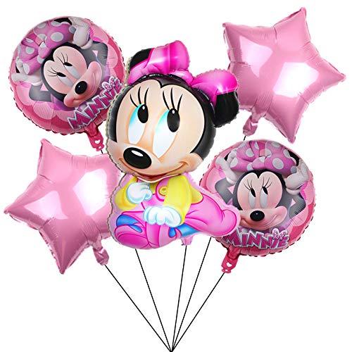 CYSJ Topolino Decorazione per Feste Mickey Palloncino in Foglio di Alluminio Bambini Compleanno Palloncini Minnie Feste Decorazioni per Tema Forniture Baby Shower Decorazioni