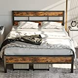 LIKIMIO Queen Bed Frame with Headboard, Platform Metal Bed Frame Queen with 14 Heavy Duty Steel Slats, More Sturdy, Noise-Free, No Box Spring Needed