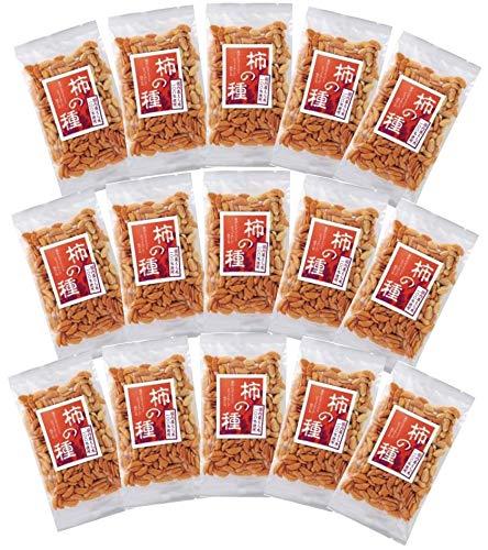 無添加 柿の種 80g×15個 <箱売り>★ 宅配便 ★国内産のもち米を使用し、杵でつき、厳選した調味料・香辛料を使って丁寧に焼き上げ、ピリッと辛口に仕上げました。ピーナッツ入り。
