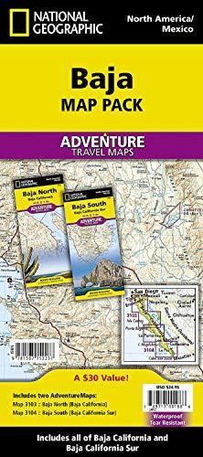 Baja California, Mexico, Map Pack Bundle: Travel Maps International Adventure Map (National Geographic Adventure Map) [Idioma Inglés]