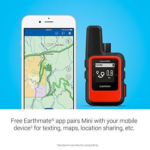 Garmin 010-01879-00 InReach Mini, Lightweight and Compact Satellite Communicator, Orange