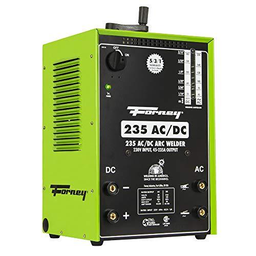 Forney 235 AC/DC Stick Welder, Arc Welder,230-Volt, 230/ 180 Amp, Green