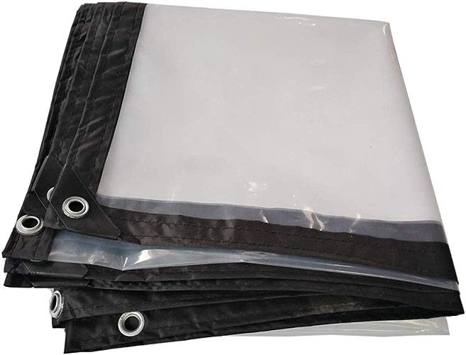 LXLA- Bache anti-pluie transparente en plastique avec oeillets, tente hydratante hydrofuge de tissu de hangar imperméable de bache d'isolation transparente - 120g   m2 (taille   3m x 5m)