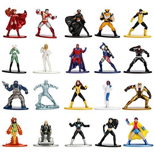 "Jada Toys Marvel X-Men 20 Pack Die-Cast Figures, 1.65"" Scale Collectable Figurine 100% Metal"
