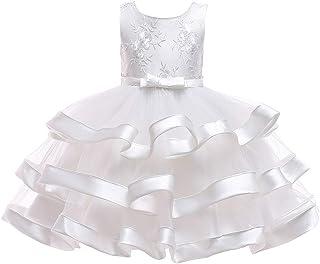 Vestido de princesa de las niñas Falda para niños Traje de Año Nuevo Ropa para niños Vestido blanco como la nieve Vestido ...