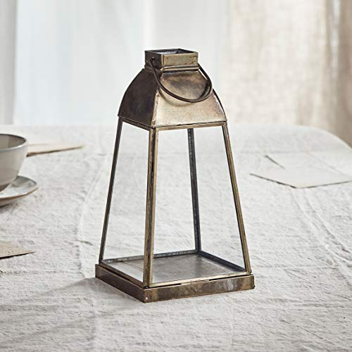 Lights4fun Artisan Glas Laterne Otto 23,5cm