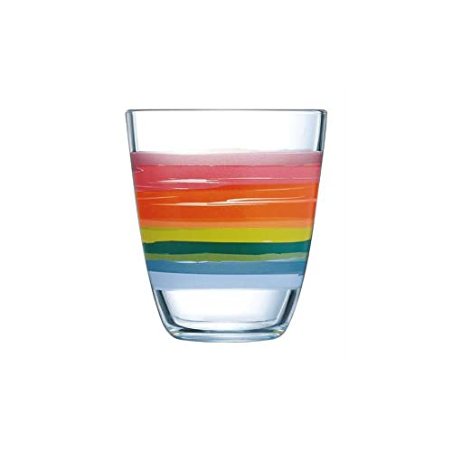Luminarc Neo Color Pencil Highball Tumbler Set, 310ml, Set of 6, Multicolour