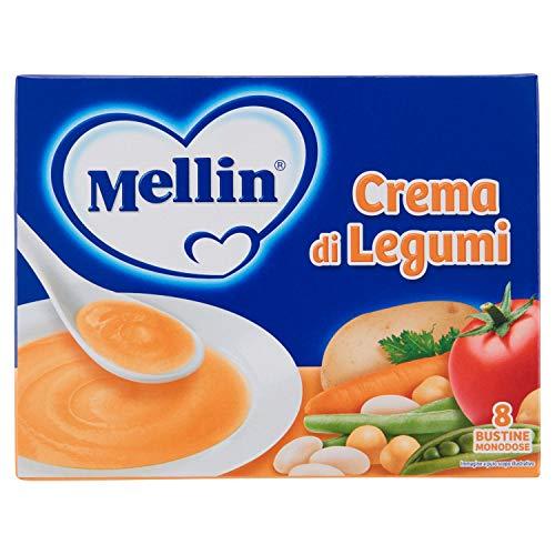 Mellin Crema di Legumi Liofilizzati, 8 Bustine 104 gr