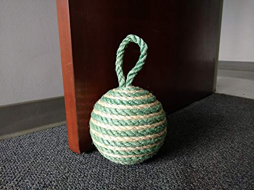 Large Sisal Rope Doorstop, Decorative Rope Ball, Natural or Dyed Sisal Door Stopper, Assorted Colors