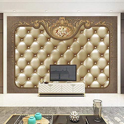VGFGI 3D Photo Wallpaper Bedroom Mural Mural European Soft Package Luxury Living Room TV Background Decorative Wall mural-300cm(W) x200cm(H)