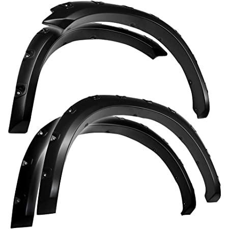 Does Not Work With REBEL Models   Paintable Fine-Textured Matte Black Factory Style Fender Flare Set 4 Piece Tyger Auto TG-FF6D4328 for 2019-2021 Dodge Ram 1500
