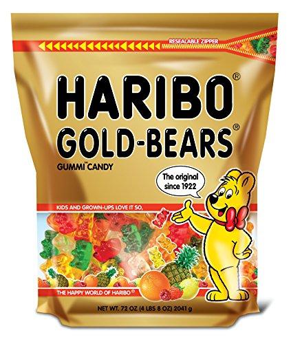 Haribo of America Haribo Goldbears Gummi Candy in a Stand-Up Bag, 72 Ounce