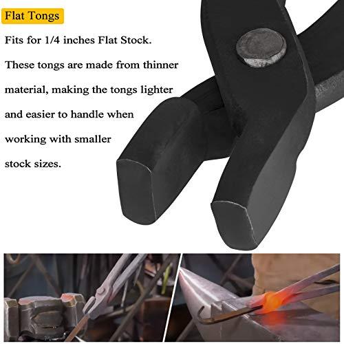 Knife Making Tongs Set - Bladesmith Blacksmith Forge Tong Tools Set Vise Tools Anvil Hammer (3-Pack)
