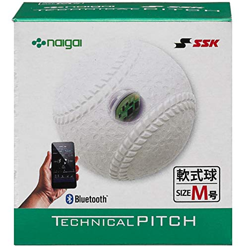 SSK テクニカルピッチ 軟式 M号球 TP002M 投球測定 Bluetooth接続