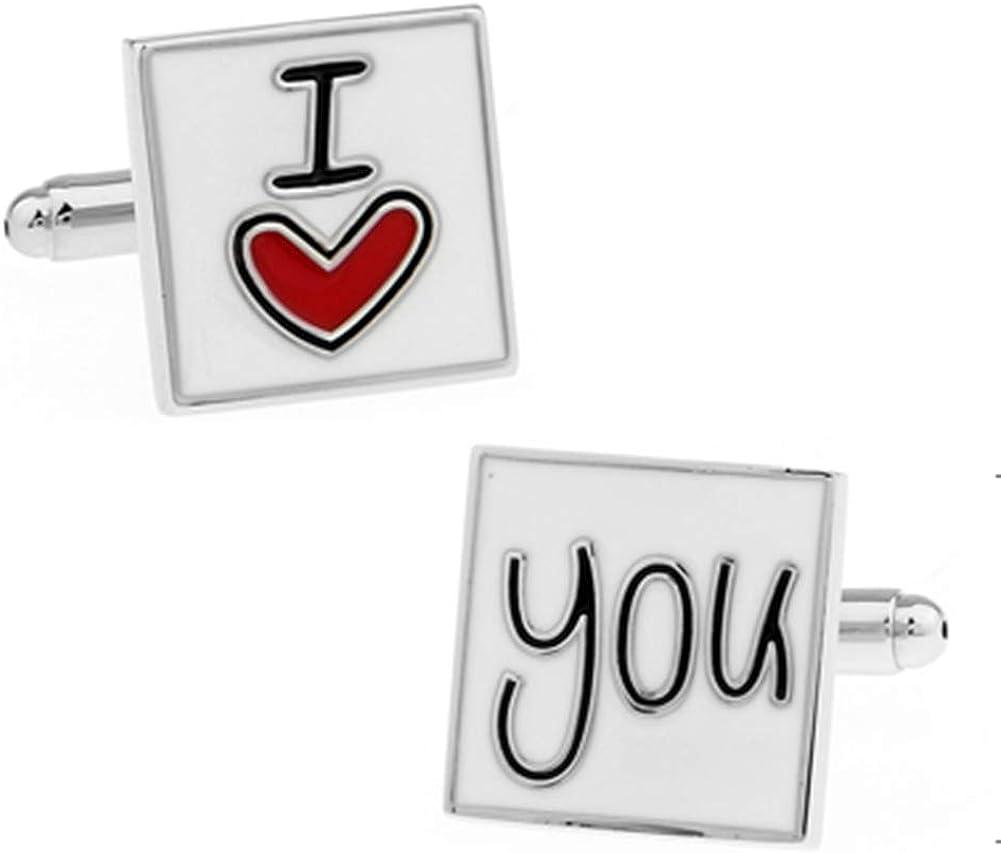 I Love You Cuff Links Wedding Anniversary Groom Husband Boyfriend Wedding Cufflinks