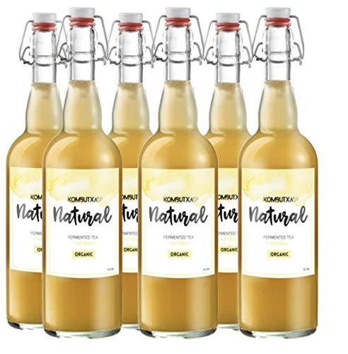 KOMBUTXA TE KOMBUCHA BEBIDA ECOLOGICA - 6x750ml te fermentado bio organic tea bebida energetica sin azucar añadido (Natural)
