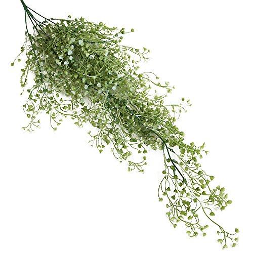 NszzJixo9 Artificial Green Plant Flower Vine -Artificial Fake Silk Flower Vine Hanging Garland Plant Home Garden Wedding Decor,Indoor/Outdoor Use (A)