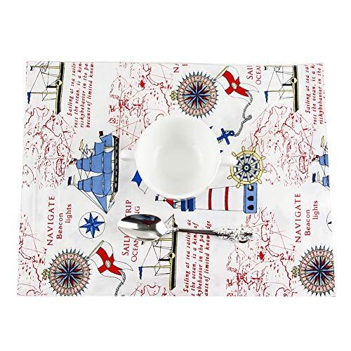 Lounayy Pure Baumwolle Tischsets Non Slip Waschbar Tischmatten Hitze Geeignet Style Isoliermatte Für Kinder 30 * 40Cm Tischsets Home Dekoration Vintage Stil Platzdeckchen