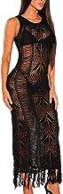 WAWJIR Women Sexy Soft Lace Stretch Crochet Hollow Beach Long Maxi Dress Tassel Swimsuit Bikini Cover Up Party Dress