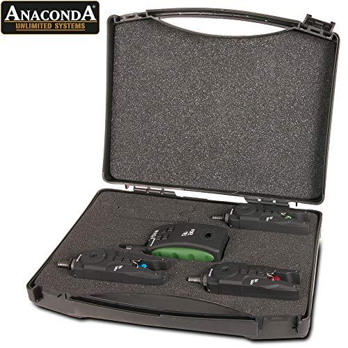 Anaconda Unisex– Erwachsene Tiki Taka 3er Funkset Rot Blau Grün 2048603 Bissanzeiger, Schwarz, 1 Set (3 1 Empfänger)